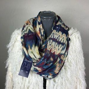 Chaps Multicolor Boho Tie Dye Infinity Loop Scarf